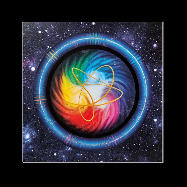 Akaija | Aurahealer Bild mit Nachtleuchtfarbe, 13 x 13 cm