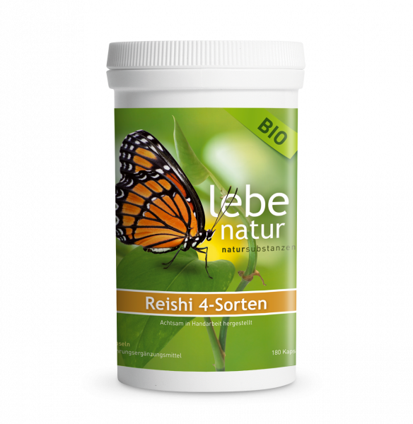 lebe natur® Reishi 4-Sorten Pilz BIO 180er