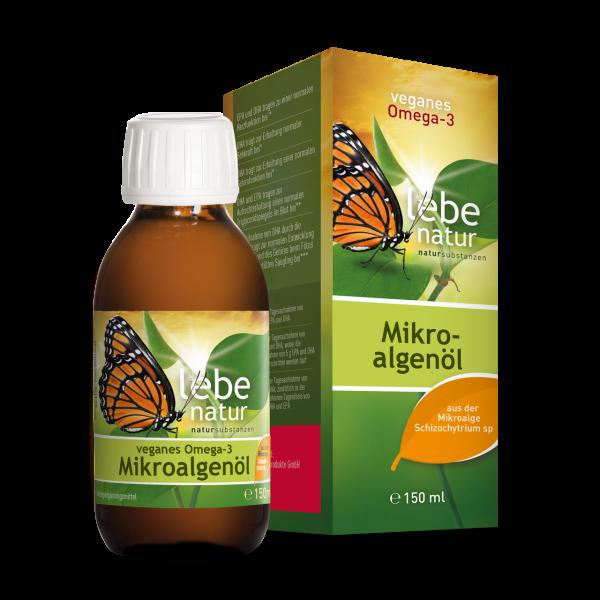 lebe natur® veganes Omega-3 Mikroalgenöl ohne Astaxanthin