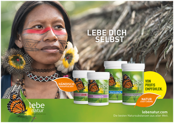 lebe natur® Plakat A3 Querformat - LEBE DICH SELBST