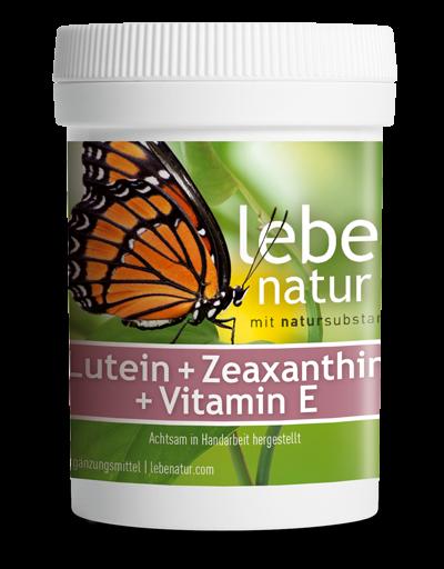 lebe natur® Lutein + Zeaxanthin + Vitamin E 90er
