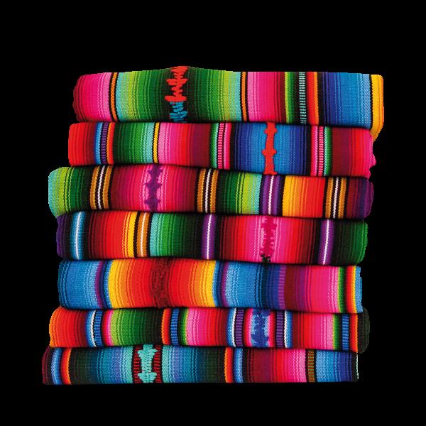 Maya Regenbogen-Wolldecke, Maße ca. 215x157 cm