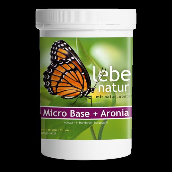 lebe natur® Micro Base + Aronia Basenpulver 360 g