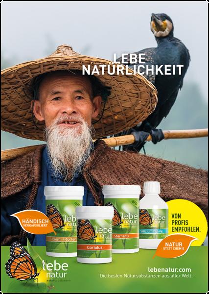 lebe natur® Plakat A3 Hochformat - LEBE NATÜRLICHKEIT