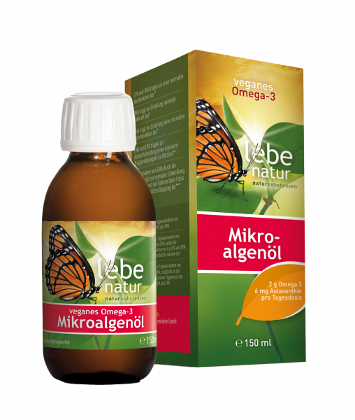 lebe natur® veganes Omega-3 Mikroalgenöl