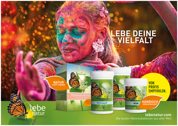 lebe natur® Plakat A2 Querformat - LEBE DEINE VIELFALT
