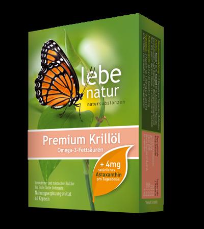 lebe natur® Krillöl Premium mit 4 mg Astaxanthin/Tds. 60er