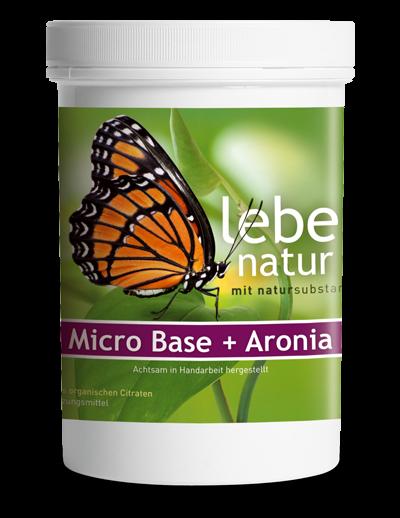 lebe natur® Micro-Base + Aronia Basenpulver 360 g