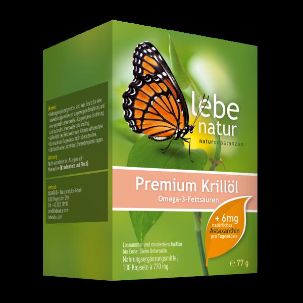 lebe natur® Krillöl Premium mit 6 mg Astaxanthin/Tds. 100er