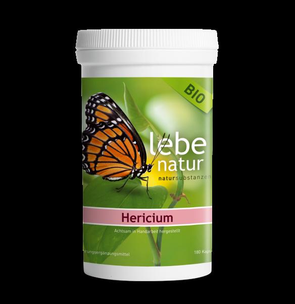 lebe natur® Hericium erinaceus, Pilz 180er BIO Dose