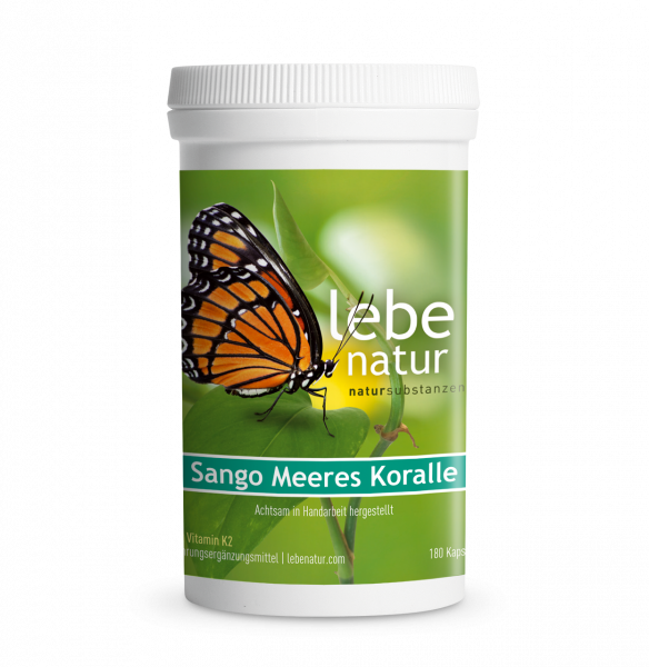 lebe natur® Sango Meeres Koralle mit Vitamin K2 180er