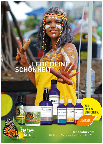 lebe natur® Plakat A3 Hochformat - LEBE DEINE SCHÖNHEIT