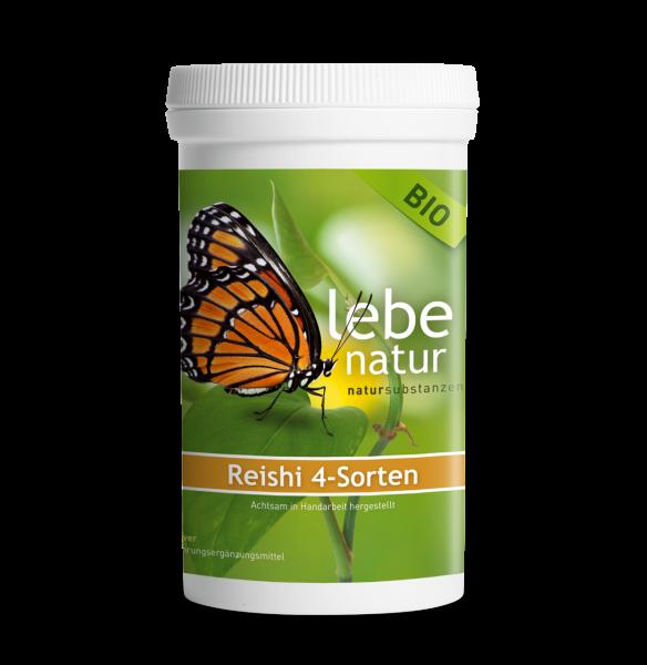 lebe natur® Reishi 4-Sorten Vitalpilz Pulver BIO 140 g