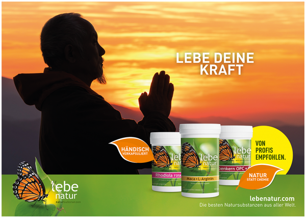lebe natur® Plakat A3 Querformat - LEBE DEINE KRAFT